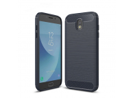 Husa silicon TPU Samsung Galaxy J5 (2017) J530 Carbon bleumarin