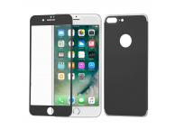 Pachet Folie Protectie ecran antisoc Tempered Glass Aluminum Frame + protectie spate aluminiu Apple iPhone 7 Plus WZK Blister Original
