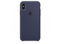 Husa silicon TPU Apple iPhone X MQT32ZM bleumarin Blister Originala