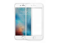 Folie Protectie ecran antisoc Apple iPhone 6 Tempered Glass Full Face 6D alba 9H Blister