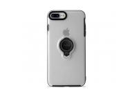Husa plastic Apple iPhone 7 Plus Puro Ring Magnet Transparenta Blister Originala