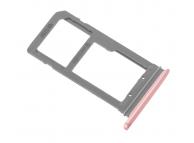 Suport sim si card MicroSD Samsung Galaxy S7 edge G935 roz auriu