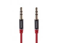 Cablu audio Jack 3.5 mm Tata - Tata Remax 1m Rosu Blister Original
