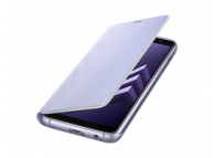 Husa Samsung Galaxy A8 (2018) A530 EF-FA530PVEGWW Neon Flip Bleu Blister Originala