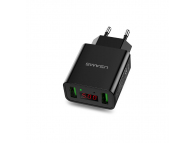 Adaptor priza Dual USB USAMS CC040 cu afisaj Blister Original