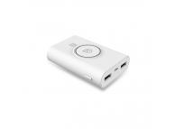 Baterie externa Powerbank cu incarcare wireless Usams US-CD31 8000mA Alba Blister Originala