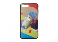 Husa silicon TPU Apple iPhone 7 3D Squishy Cat on the beach