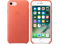Husa piele Apple iPhone 8 MQ5F2ZM Portocalie Blister Originala