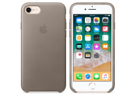 Husa piele Apple iPhone 8 MPT62ZM Bej Blister Originala