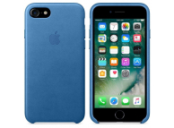 Husa piele Apple iPhone 7 MMY42ZM Albastra Blister Originala