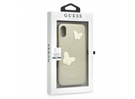 Husa piele Apple iPhone X Guess Butterfly GUHCPXPBUBE aurie Blister Originala