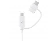 Cablu Date si Incarcare USB - MicroUSB USB Type-C Samsung EP-DG930DW Combo Alb Original