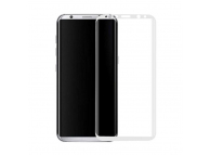 Folie Protectie ecran antisoc Samsung Galaxy S8 G950 Tempered Glass Full Face 3D Alba Blister