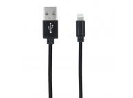 Cablu de Date si Incarcare USB la MicroUSB Forever Woven 1m Blister