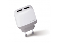 Adaptor priza Dual USB Forever 2.4A Alb Blister