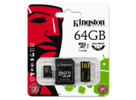 Card memorie Kingston MicroSDXC 64GB si cititor card Blister