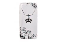 Husa silicon TPU Apple iPhone 7 Vennus Art Crown transparenta Originala