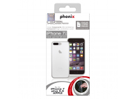 Husa silicon TPU Apple iPhone 7 Plus Phonix IP7GPW Transparenta Blister Originala