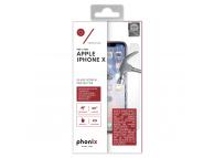 Folie Protectie ecran antisoc Apple iPhone X Phonix Tempered Glass Blister Originala