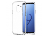 Husa silicon TPU Samsung Galaxy S9 G960 Spigen Liquid Crystal 592CS22826 transparenta Blister Originala