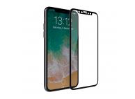 Folie Protectie ecran antisoc Apple iPhone X Tempered Glass Full Face 5D neagra Blister Originala