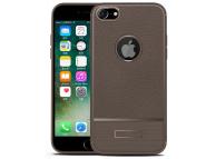 Husa silicon TPU Apple iPhone 7 Litchi Rugged Maro