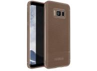 Husa silicon TPU Samsung Galaxy S8 G950 Litchi Rugged Maro