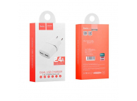 Adaptor priza Dual USB HOCO C12 2.4A Alb Blister Original