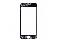 Folie Protectie ecran antisoc Apple iPhone X Tempered Glass Flora Neagra Blister