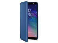 Husa Piele Samsung Galaxy A6+ (2018) A605 Flip Wallet EF-WA605CLEGWW Albastra Blister Originala