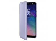 Husa Piele Samsung Galaxy A6+ (2018) A605 Flip Wallet EF-WA605CVEGWW Mov Blister Originala