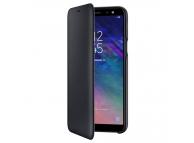 Husa Piele Samsung Galaxy A6 (2018) A600 Flip Wallet EF-WA600CBEGWW Blister Originala