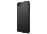 Husa Plastic Spigen Thin Fit Pentru Apple iPhone 7 / Apple iPhone 8, Neagra, Blister 042CS20845