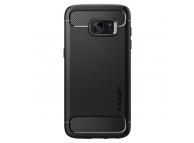 Husa TPU Spigen Rugged Armor Pentru Samsung Galaxy S7 edge G935, Neagra, Blister 556CS20033