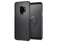 Husa Plastic Spigen Thin Fit Pentru Samsung Galaxy S9 G960, Gri, Blister 592CS22823