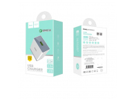 Incarcator Retea USB HOCO, C24, QC 3.0, 1 X USB, Alb, Blister