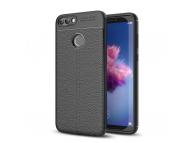 Husa TPU OEM Litchi Pentru Huawei P smart, Neagra, Bulk