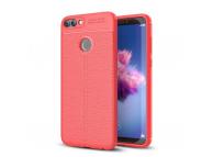 Husa TPU OEM Litchi Pentru Huawei P smart, Rosie, Bulk