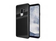 Husa TPU OEM cu spate din sticla pentru Samsung Galaxy S9+ G965, Neagra, Bulk
