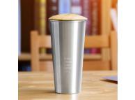 Cana aluminu cafea Remax RT-CUP40 cu capac de lemn 400ml Argintie Blister