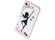 Husa TPU OEM Dancing Girl pentru Apple iPhone 7 / Apple iPhone 8, Fosforescenta, Multicolor, Bulk