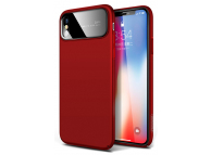 Husa Plastic Joyroom Ultra Slim pentru Apple iPhone X, Rosie, Blister