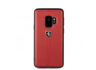 Husa Piele Ferrari Heritage FEHDEHCS9RE pentru Samsung Galaxy S9 G960, Rosie, Blister