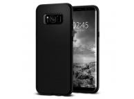 Husa TPU Spigen pentru Samsung Galaxy S8+ G955, Liquid Air, Neagra, Blister 571CS21663