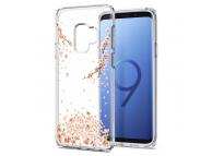 Husa TPU Spigen pentru Samsung Galaxy S9 G960, Liquid Blossom, Transparenta, Blister 592CS22827