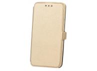 Husa Piele OEM Pocket pentru Nokia 6.1, Aurie, Bulk
