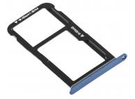 Suport Card - Suport SIM Albastru Huawei P10 Lite
