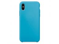 Husa TPU OEM Pure Silicone pentru Apple iPhone X, Albastra, Blister