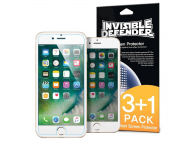 Folie Protectie Ecran Ringke pentru Apple iPhone 7 / Apple iPhone 8, Plastic, Set 4 buc, Blister