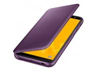 Husa Samsung Galaxy J6 J600, Flip Wallet, Lila, Blister EF-WJ600CEEGWW